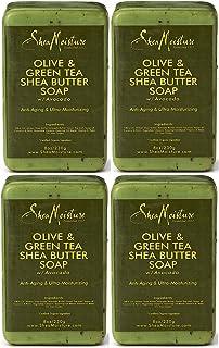 Shea Moisture Olive & Green Tea Shea Butter Soap, 8 Oz (Pack of 4)