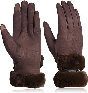 Women's Touchscreen Gloves Warm Soft Lining Thick Warmer Winter Gloves