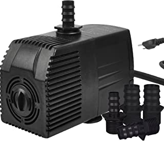 Simple Deluxe 400 GPH UL Listed Submersible Pump with 15' Cord, Water Pump for Fish..