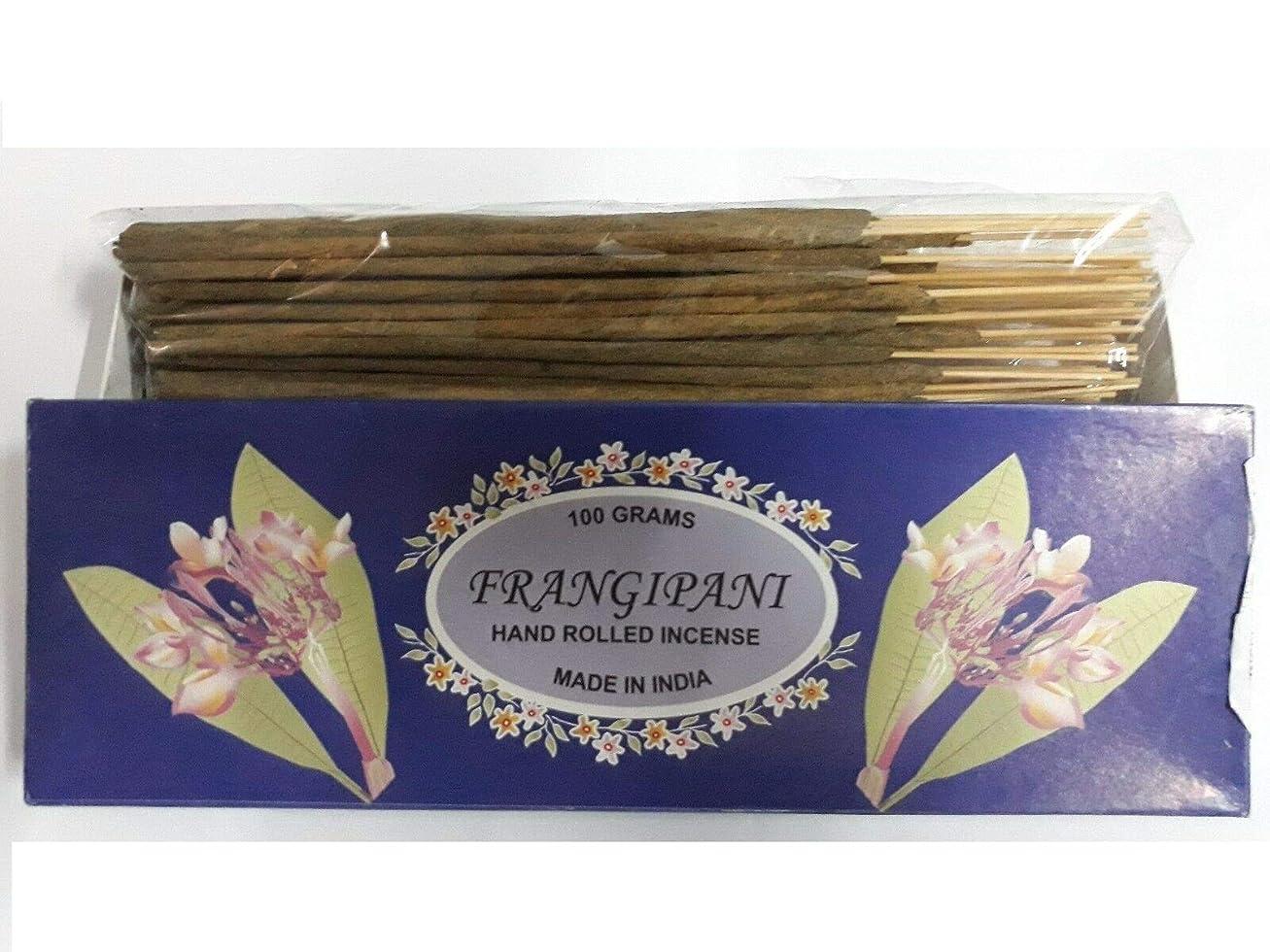 バウンスキッチン賠償Frangipani フランジパニ Agarbatti Incense Sticks 線香 100 grams Hand Rolled Incense