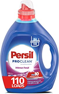 Persil Liquid Laundry Detergent, ProClean Intense Fresh, 2X Concentrated, 110 Loads