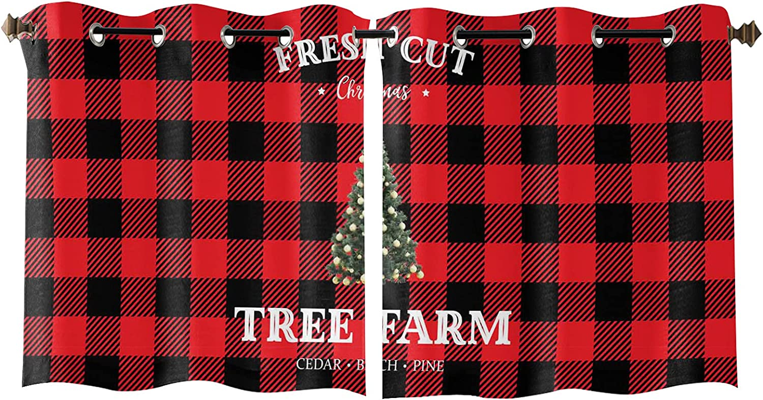 Inventory cleanup Cheap mail order specialty store selling sale Curtain Window Treatment Drapes Merry Trees 2 Panles Christmas S