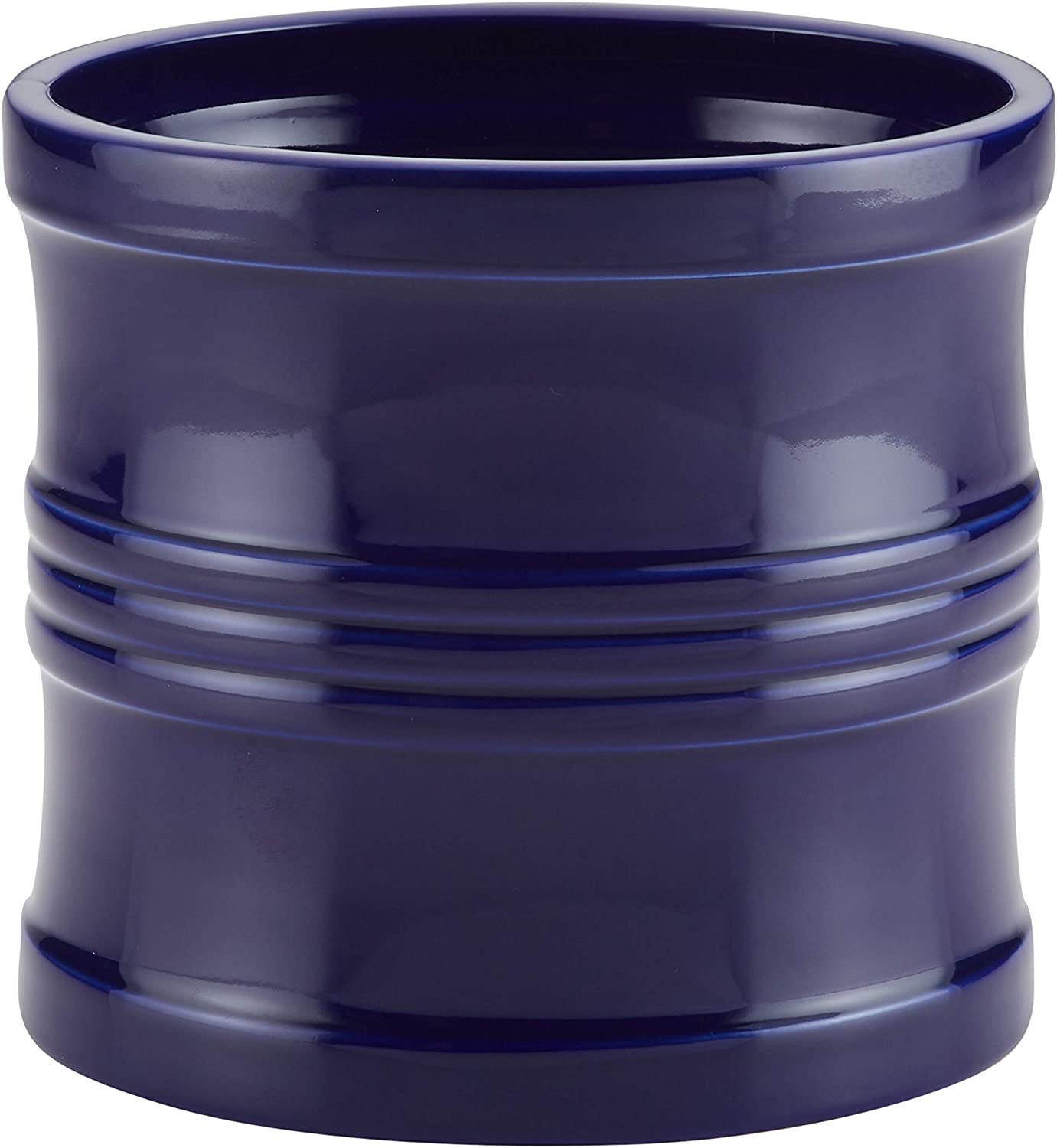 Circulon Ceramics Tool Crock with Partition Insert, 7.5-Inch, Navy bluee
