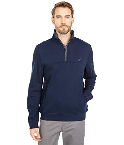 Nautica 1/4 Zip Knit Sweater (Navy) Men