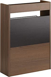 サンワダイレクト ケーブルボックス 木製 幅40cm 高さ58cm ケーブル ルーター 収納ボックス ダークブラウン 200-CB023DBRM