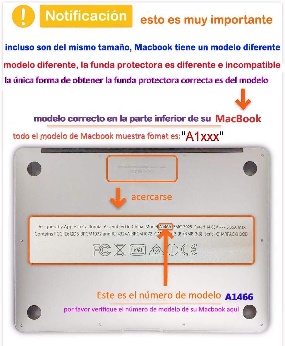 RQTX Imagen del Cerebro Estuche para computadora port/átil para el Nuevo MacBook Air 13A2179 A1932 Retina A2179 A1932 Funda de Cubierta r/ígida Mate Suave Set Azul Celeste