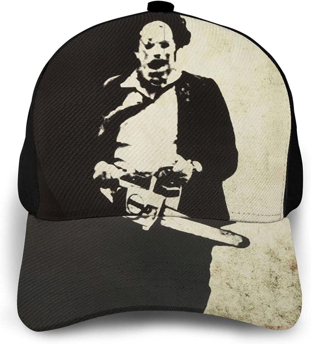 GFDER Halloween Horror Movie Leatherface Athletic Baseball Cap Dad Hat Ball Hat Cowboy Hat Beach Sun Hat