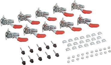 10 قطع GH-201 أدوات يدوية مشابك تبديل مضادة للانزلاق بمشبك أفقي سريع التحرير 26.7 كجم سعة
