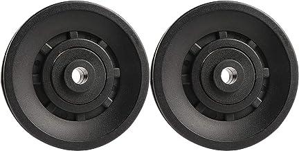 Topfinder - Polea de rodamiento Universal de 90 mm para Maquina de Cables y Equipo de Gimnasio, Parte de Puerta de Garaje