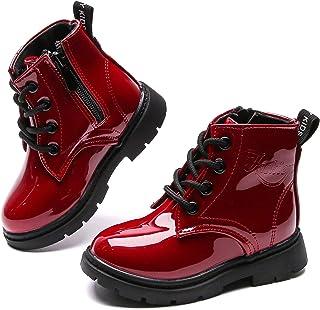 أحذية Comfyea للأولاد والبنات برقبة عالية وسحاب جانبي للكاحل بلون ساطع (للأطفال الصغار/الأطفال الصغار)
