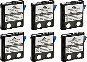 Uniden BP38 Replacement NiMH Battery Pack (Set of 6); For Uniden GMR Radios and some VHF Radios; Fits with VHF Models MHS050-2, Atlatnis 150; Can be used in place of the BP40