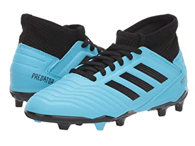 adidas Kids Predator 19.3 FG J Soccer (Little Kid/Big Kid) (Bright Cyan/Black/Solar Yellow) Kids Shoes