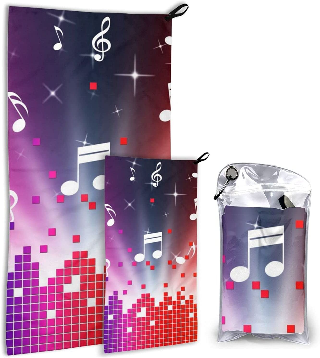 BTMGJKEY Colorful Music Beach Towel Set Soft price Breathable an Nashville-Davidson Mall of 2