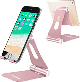 Mobile Phone Stand, Yoshine iPhone Desk Stand iPhone Holder Portable & Foldable & Adjustable Mobile Phone Holder Desktop C...