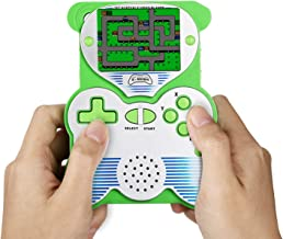 12 Bit Handheld Games Console for Kids,  Portable Games Console Built-in 220 Classic Games, Retro Video Games Player, Panda Design 2.5 Inch LCD Arcade Gaming System USB Charge for Children - Green
