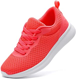 DADAWEN Women's Athletic Walking Shoes Lightweight Casual Breathable Mesh Running Sneakers (Size:US5-US12)