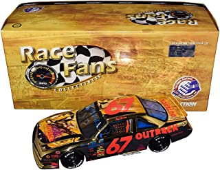 AUTOGRAPHED 1990 Jeff Gordon #67 Outback Steakhouse Racing 24 KARAT GOLD RACE FANS ONLY (2000 Release) Vintage Signed Collectible Action 1/24 NASCAR Diecast Car with COA (1 of only 2,000 produced)