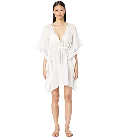 Kate Spade New York Grove Beach Long Caftan Cover-Up (Fresh White) Women