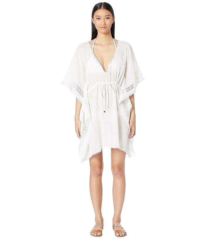 Kate Spade New York Grove Beach Long Caftan Cover-Up (Fresh White) Women