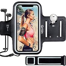Gritin Telefoonarmband voor iPhone 12 Mini/SE 2020/11 Pro/XS/X/8/7/6 Plus tot 5,8 inch, huidvriendelijke zweetbestendige s...