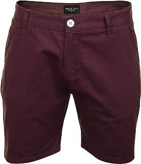 BRAVE SOUL Mens Chino Shorts Fern' Cotton Twill