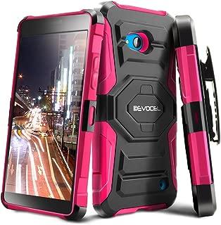 Lumia 640 Case, Evocel [New Generation Series] Belt Clip Holster, Kickstand, Dual Layer for Microsoft Lumia 640, Pink (EVO-NK640-XX05)