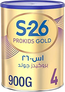 Wyeth Nutrition S26 Prokids Gold Stage 4, 3-6 Years Premium Milk Powder for Kids Tin 900g