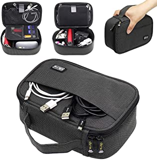 Sisma Travel Cables Organiser Carrying Case for Power Cords Phone Battery Chargers Earbuds Hard Drives Memory Cards Adapte...