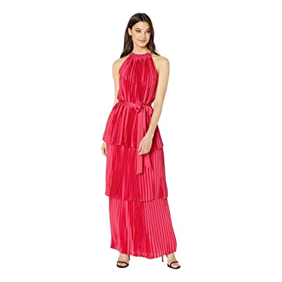 Juicy Couture Pleated Halter Maxi Dress (Post Punk Pink) Women