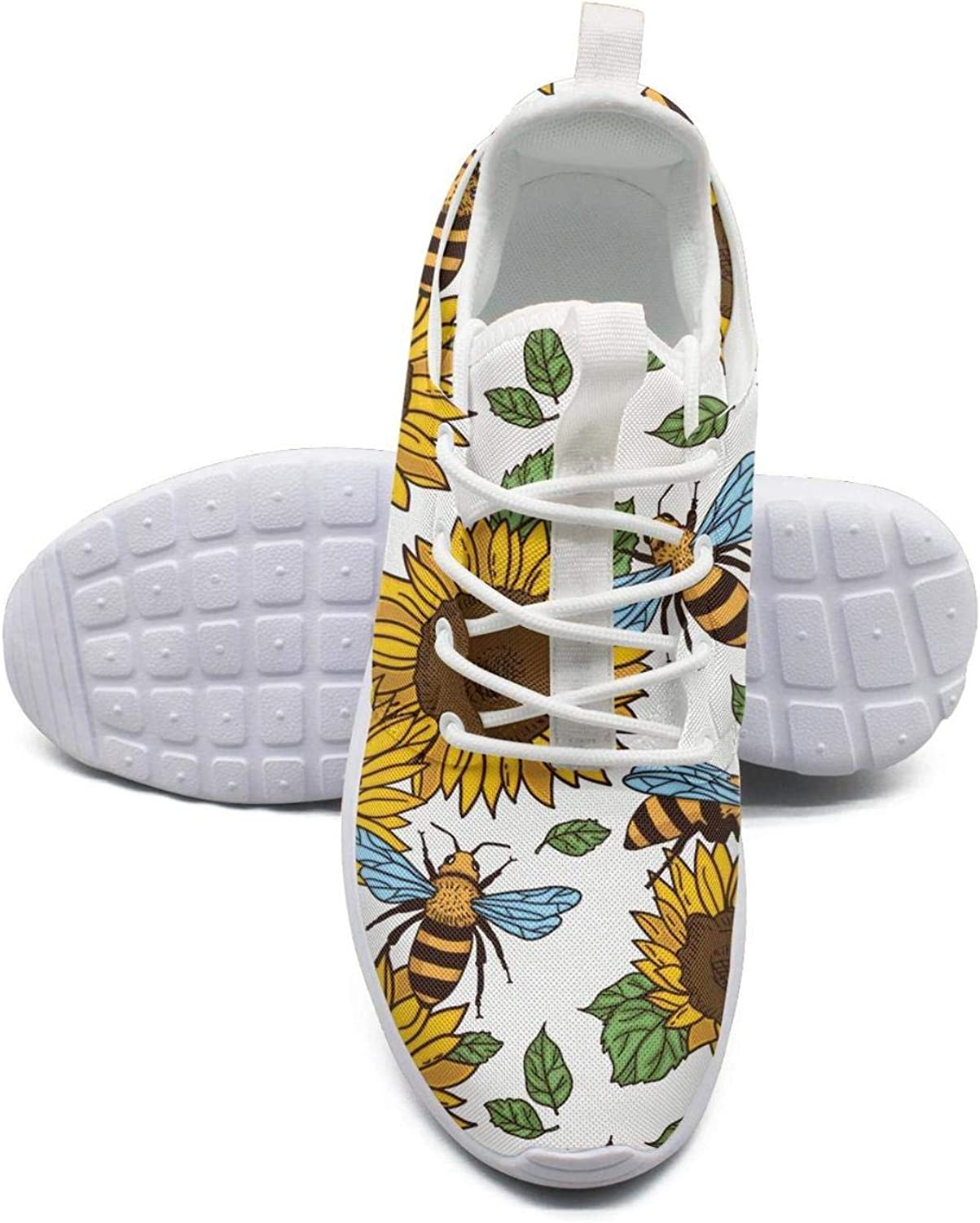 ERSER Sunflowers and Bees Laborious Womens Lightweight Running shoes