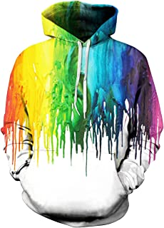 Unisex Realistic Hoodies Front Pocket Pullover Sweatshirt Hip Hop Hoody Outerwear S-XXL