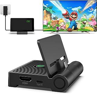 Switch Dock para Switch/Switch OLED, innoAura Base de Conexión de TV Plegable para Switch, Base de Carga Portátil con Puer...