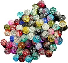 100pcs 8mm Mixed Colourful Glass Crystals Beads for Jewellery Making Crafts DIY