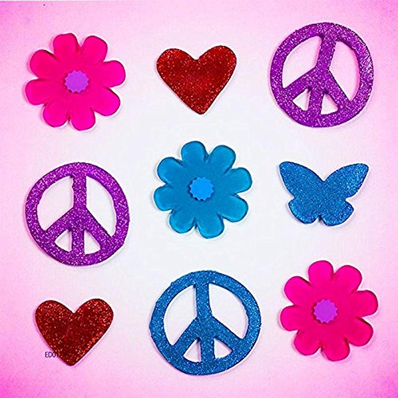 Design Ideas GelGems Kid Stuff Themed Gel Window Clings Peace Love Small Bag