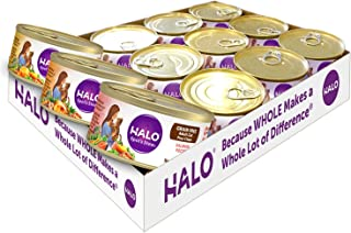 Halo Grain Free Natural Wet Cat Food, Variety Pack With Chicken, Salmon & Turkey, 5.5-Ounce Can (Pack Of 12)