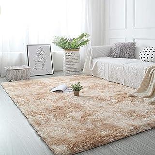 Pauwer Pluizig, dik gebied tapijt tapijt voor slaapkamer woonkamer ultra zacht antislip vloertapijt tapijt modern indoor p...