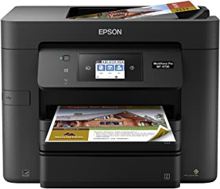 Epson Workforce Pro WF-4730 Wireless All-in-One Color Inkjet Printer, Copier, Scanner with Wi-Fi Direct, Amazon Dash Replenishment Enabled (Renewed)