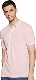 Amazon Brand - Symbol Men's Solid Regular fit Polo T Shirt