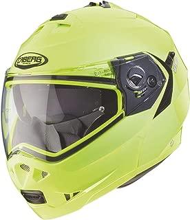 Caberg Klapp Helm Duke II 2 Motorrad Belüftet Sonnenblende Pinlock Visier Jet Brillenträger, 308650, Farbe Neon Gelb, Größe L