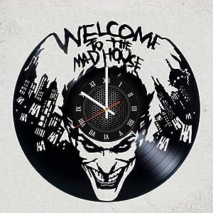 Joker DC Comics Vinyl Record Wall Clock - Nice Gift for Men or Fan DC Comics Merchandise Gifts for Kids Bedroom Decor Batman - Suicide Squad