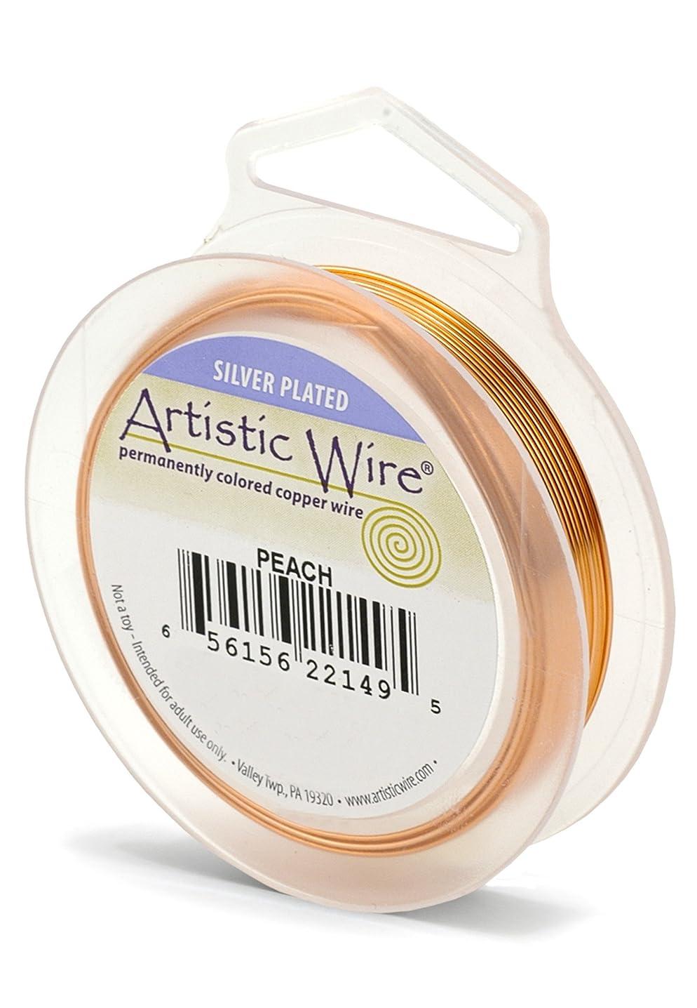 Artistic Wire 28S Gauge Wire, Peach, 40-Yard