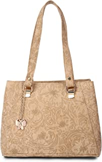 Butterflies Handbag For Women's & Girl's (Beige) (BNS 0745BG)