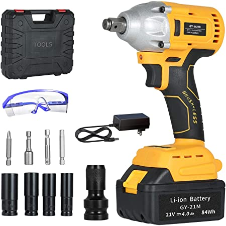 Electric Impact Wrench with Lithium-Ion Battery,Car Scaffolding Woodworking Special Electric Spanner//With Drill,StyleA