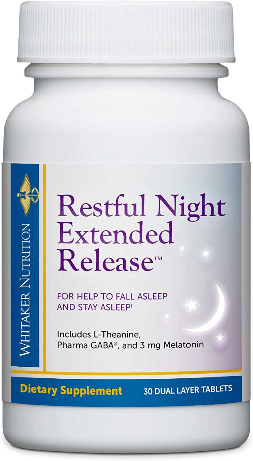 Dr. Today's only Whitaker's Restful Night Extended Overseas parallel import regular item Release Ai Melatonin Sleep