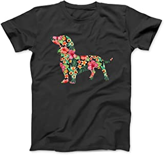 Dachshund Flower Funny Dog Silhouette Floral Gifts Women Men T-Shirt