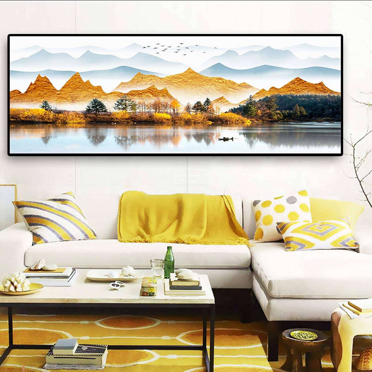 Sunsightly Print on Canvas NEW before selling ☆ New mail order Modern Landscape Autumn C Art Classic