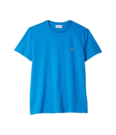 Lacoste Short Sleeve Pima Crew Neck T-Shirt (Nattier Blue) Men