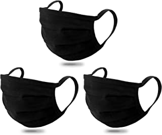 SIVA Adult Unisex Face Masks Washable Reusable Comfy Casual 100% Cotton 2 Ply (Pack of 3)