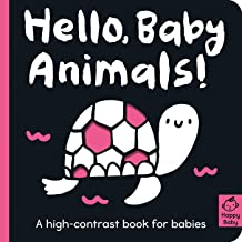 Hello Baby Animals!: A high-contrast book for babies