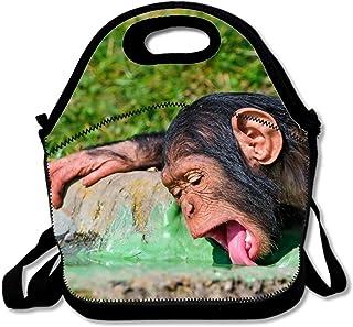 モンキーフードドリンク喉の渇きランチバッグネオプレンジッパー洗濯可能伸縮性防水アウトドア通学旅行ピクニックトートバッグ再利用可能なバッグボックスメンズレディース大人用子供用